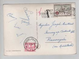 3198/ TP 1395 Postillon Cheval C.Brugge 1966 Griffe T 1 F > Raversyde Taxée 1 Fr Par TTx 66 C.Middelkerke - Postage Due