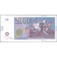 TWN - MACEDONIA (private Issue) - 2000 2.000 Denari 2013 Specimen 000000 UNC - Non Classificati