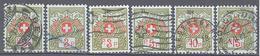 Suisse: Yvert N° Franchise 2A/7A°;  Cote 6.30€ - Portofreiheit