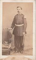 Photo - C.D.V. Soldat  En Pose - 2é Empire - à Définir - Guerre, Militaire