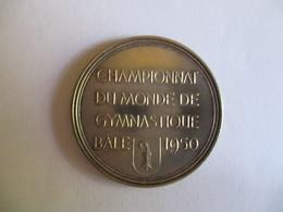 Suisse: Médaille Championnat Du Monde De Gymnastique, Bâle 1950 - Professionnels / De Société