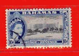 (Us3) ) BAHAMAS ° 1954 - Hotels Moderne.  Yvert 156 . Usato - Bahamas (1973-...)