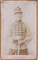 Photo - C.D.V. Soldat  En Pose - 2é Empire - 4ém Régt. ( à Définir ) Photo G. RIVA - Guerre, Militaire