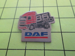 910d Pin's Pins / Beau Et Rare : THEME : TRANSPORTS / CAMION DAF 85 360 - Transportation