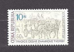 Czech Republic 2011 MNH ** Mi 666 Sc 3484 Tradition Of Czech Stamp. Mail Coach On Charles Bridge.Tschechische Republik. - Czech Republic