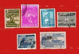 (Us3) ) BANGLADESH ° 1973 - 83.  Yvert 29-32-125-163-170A . Usato - Bangladesh