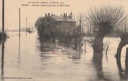 La Crue De La Meuse, 23 Février 1910 - Maisons Isolées (Quartier Du Petit-Pont) - Sedan