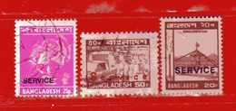 (Us3) ) BANGLADESH ° 1973 - 83. SERVICE Yvert. 6-22-35 . Usato - Bangladesh