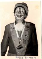 C.1951-1954 Carnaval Aalst Alost Déguisement - Photo Découpée Et Collée Sur Carton C.9x12Cm  Belgique Prins  Karnaval - Non Classificati