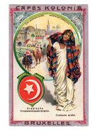 Chromo Costumes Arabe, Orient, Cafés Kolonia, Bruxelles, Serie 2, N° 22 - Trade Cards
