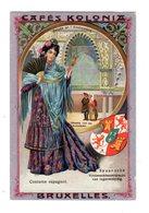 Chromo Costumes D Espagne, Cafés Kolonia, Bruxelles, Serie 2, N° 9 - Trade Cards