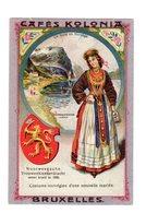 Chromo Costumes De Norge, Cafés Kolonia, Bruxelles, Serie 2, N° 11 - Trade Cards