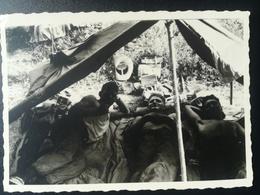 MILITAIRES PARA - COMMANDOS DE BELGIQUE DÉTACHÉS AU CONGO BELGE FIN ANNÉES 1950 LOT 15 PHOTOS Et 2 Cartes - Photos - Guerre, Militaire