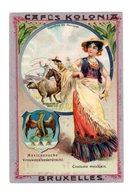Chromo Costumes De Mexique, Cafés Kolonia, Bruxelles, Serie 2, N° 14 - Trade Cards