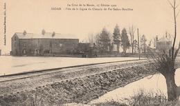 La Crue De La Meuse, 23 Février 1910 -  Près De La Ligne De Chemin De Fer Sedan-Bouillon - Sedan
