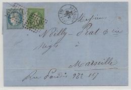 Affranchissement Septembre 71 AJACCIO BAT A VAP - Marcophilie (Lettres)