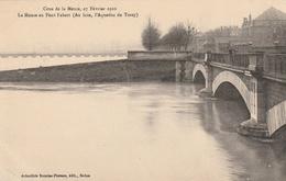 La Crue De La Meuse, 23 Février 1910 - La Meuse Au Pont Fabert (Au Loin, L'Aqueduc De Torcy) - France