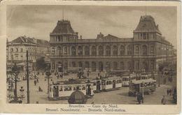 Bruxelles  -   Gare Du Nord.   1957  Naar   Anvers  -   TRAM! - Transport (rail) - Stations
