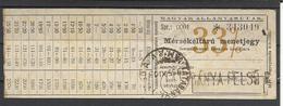 Hungary, Train Ticket, Reduced Rate,1955. - Spoorwegen