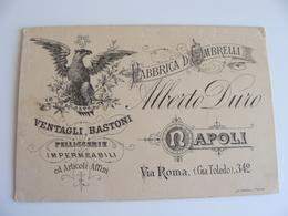 1913  NAPOLI  ALBERTO  DURO  FABBRICA OMBRELLI    VENTAGLI  PELLICE COMMERCIO  NON VIAGGIATA  FORMATO PICCOLO - Mercanti