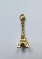 Fève Métal Doré Pendentif Tour Eiffel - Regions
