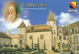47 LAUZUN - CHATEAU DUCAL / PORTRAIT DE LAUZUN / BLASON - Francia