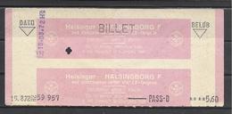 Denmark To Sweden, Ferry(?) Ticket, 1972. - Europa
