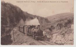 Chemin De Fer  Ligne De ROANNE à VICHY Entre Saint Just En Chevalet Et La Thuilière - Trains