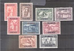 Ruanda-Urundi - 81/89 - Série Complète  - X/MH - 1924-44: Neufs