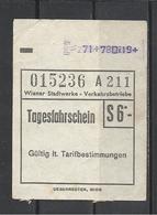 Austria, Wien, One-day Ticket, '70s.(?). - Tram