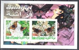 2010 -  Papillons - Butterflies - Imperfor. Sheet - MNH(**) - Fantasy Labels