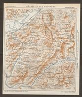 CARTE PLAN 1932 - URIAGE Les BAINS Et Ses ENVIRONS ISERE - DOMENE LIVET REVEL VAULNAVEYS OULLES - Carte Topografiche