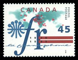 Canada (Scott No.1589 - La Francophonie) [**] - 1952-.... Règne D'Elizabeth II
