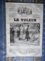 LE VOLEUR 24/04/1884 AMEDEE ACHARD J B DUMAS ALAIS CANNES CAHORS MONUMENT GAMBETTA BASLY - Journaux - Quotidiens