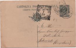 Cartolina Post. Leoni Cent. 15 Viaggiata Con Annullo Tondoriquadrato Petacciato (Campobasso) 08.07.1920 - 1900-44 Vittorio Emanuele III