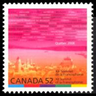 Canada (Scott No.2290 - Sommet De La Francophonie) [**] - 1952-.... Règne D'Elizabeth II