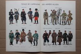 Tenue De Campagne Des Armées Alliées, Belge, Anglaise, Russe, Monténégrine, Serbe, Japonaise Par Geoffroy - Prints & Engravings