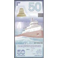 TWN - NEW JASON ISLANDS (private Issue) - 50 Australes 2012 S.S. Edmund Fitzgerland UNC - Non Classificati