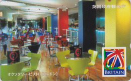 Télécarte Japon / 110-016 - ANGLETERRE - ** Série BRITAIN ** -  BAR BISTRO LONDON - England Rel Japan Phonecard - 151 - Advertising