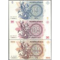 TWN - NEW RUSSIA (private Issue) - 5-25-100 Rubles 2014 Novorossiya Replica - Set Of 3 UNC - Non Classificati