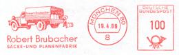 Freistempel 0852 LKW Mann Läd Säcke Ab - Marcofilia - EMA ( Maquina De Huellas A Franquear)