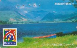 TC Japon / 110-016 - ANGLETERRE - ** Série BRITAIN ** - SNOWDONIA PARK WHALES - England Rel Japan Phonecard - Site 152 - Landschappen