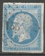 FRANCE - Oblitération Petits Chiffres LP 156 ATTIGNY (Ardennes) - Marcophilie (Timbres Détachés)