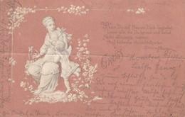 AK Gruss Aus... Künstlerkarte - Frau Mit Amor - Homberg 1899 (42465) - Gruss Aus.../ Grüsse Aus...