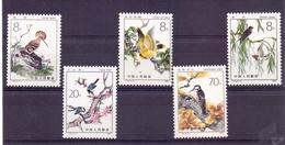 Chine N° 2535 / 2539  Neuf Sans Charniere XX  MNH Oiseaux - 1949 - ... Repubblica Popolare