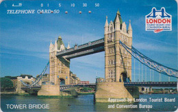 TC Japon / 110-61111 - ANGLETERRE * Série LONDON TOURIST BUREAU * PONT TOWER BRIDGE England Rel Japan Phonecard Site 154 - Landscapes