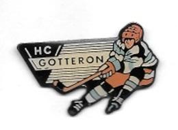 Pin's  SUISSE, Sport  HOCKEY  SUR  GLACE, Club  H . C  GOTTERON - Sports D'hiver