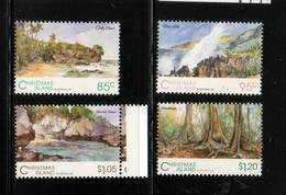 CHRISTMAS ISLAND   NEUF Sans Charnière       N° 392/395    N**   Paysages         Cte: 12,00 € - Christmas Island