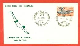 TUFFI - NUOTO -OLIMPIADI ROMA - 1960 - - Kunst- Und Turmspringen