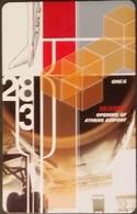 Telefonkarte Griechenland - 04/01 - Eröffnung Airport Athen 2001 - Bank (5) - Greece